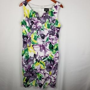 Adrianna Papell Floral Tank Dress